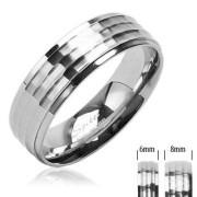 Ocelový prsten Spikes SERH1597