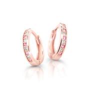 Zlaté dětské náušnice kroužky Cutie Jewellery C3342R-Pink