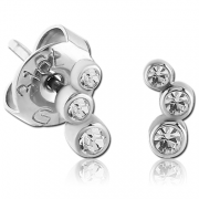 Náušnice do ucha z chirurgické oceli SESCES086-CR
