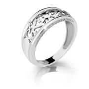 Stříbrný prstýnek se zirkony 2375