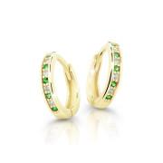 Zlaté náušnice kroužky Cutie Jewellery C3342Z-Green