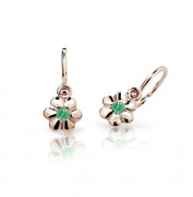Náušničky pro miminka růžové zlato C1736R-Green
