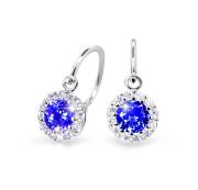 Zlaté dětské náušnice Cutie Jewellery C2745B-Blue Dark