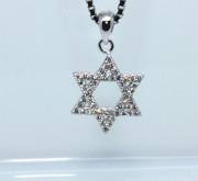 Stříbrný přívěsek se zirkony Davidova hvězda 306407