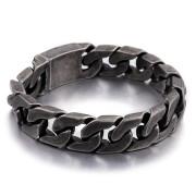 Ocelový náramek pro muže šedý WJHB333