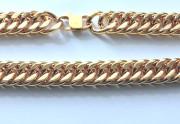 Zlatý masivní ocelový řetěz na krk WJHN08-GD