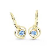Dětské náušnice srdíčka Cutie Jewellery C2752Z-Arctic Blue