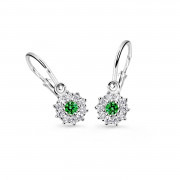 Náušničky pro miminka Cutie Jewellery C2749B-Green