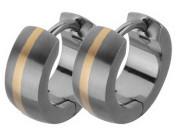 Náušnice kroužky z titanu SETE002-2T
