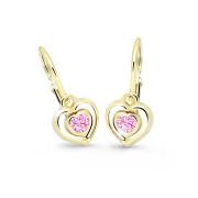 Dětské náušnice srdíčka Cutie Jewellery C2752Z-pink