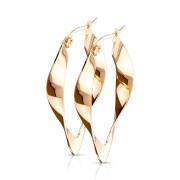 Ocelové náušnice pro ženy 3546-rose gold