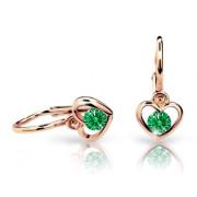 Náušnice pro miminka Cutie C1943R-Emerald Green