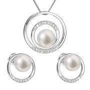 Souprava stříbrných perlových šperků 29038.1
