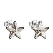Náušnice hvězdičky stříbro s krystaly Swarovski 31228.5