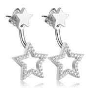 Visací stříbrné náušnice hvězdy Brosway Musa G9MU24