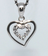 Stříbrný přívěsek srdce 303083