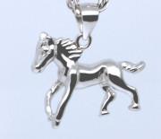 Stříbrný přívěšek na řetízek kůň 307242