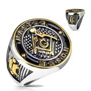 Pánský pečetní prsten 5827-Svobodní zednáři