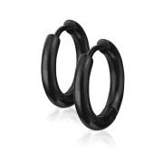 Náušnice kruhy z chirurgické oceli 3065-BK