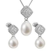 Souprava stříbrných perlových šperků 29008.1
