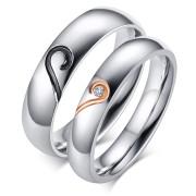 Ocelové snubní prsteny SECR064