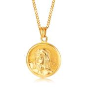 Ocelový náhrdelník hlava pána Ježíše Krista JCFPN1308