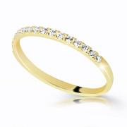 Prsten se zirkony zlatý Z6484Y