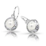 Dětské náušnice Cutie Jewellery C2393 White - Stříbro 925