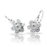 Dětské náušnice Cutie Jewellery C2489 Light Grey - Stříbro 925