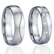 Ocelové snubní prstýnky SPPL024