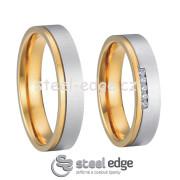 Luxusní ocelové snubní prsteny SPPL004
