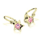 Dětské naušničky Cutie Jewellery C1942-Z Pink