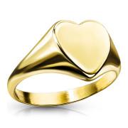 Dámský pečetní prstýnek srdce SERM7689G