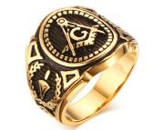 Pečetní prsten se Zednářským znakem SERC268