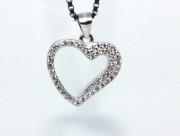 Stříbrný přívěsek srdce 304732