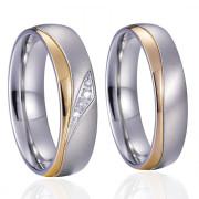 Ocelové snubní prstýnky SPPL020