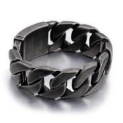 Ocelový náramek pro muže šedý WJHB332