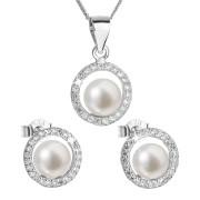 Souprava stříbrných perlových šperků 29023.1