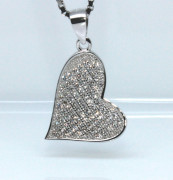 Stříbrný přívěsek srdce 308353