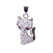 Stříbrný přívěsek 303078 - Kočka