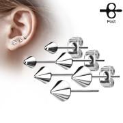 Pecky do uší chirurgická ocel 3445-St