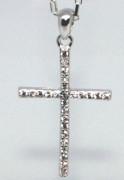 Přívěšek křížek se zirkony 304755