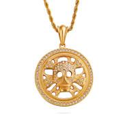 Ocelový náhrdelník lebka WJHC252