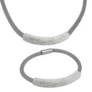 Luxusní souprava ocelových šperků Tribal SET134