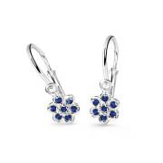 Dětské naušničky z bílého zlata Cutie Jewellery C2746B-Dark Blue