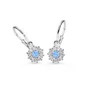 Náušničky pro miminka Cutie Jewellery C2749B-Arctic Blue