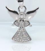Stříbrný přívěsek andělíček 308389
