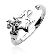 stříbrné prsteny na nohu 031