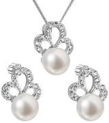 Souprava stříbrných šperků s perlami a zirkony 29010.1
