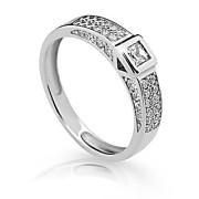 Dámský stříbrný prsten se zirkony 2361